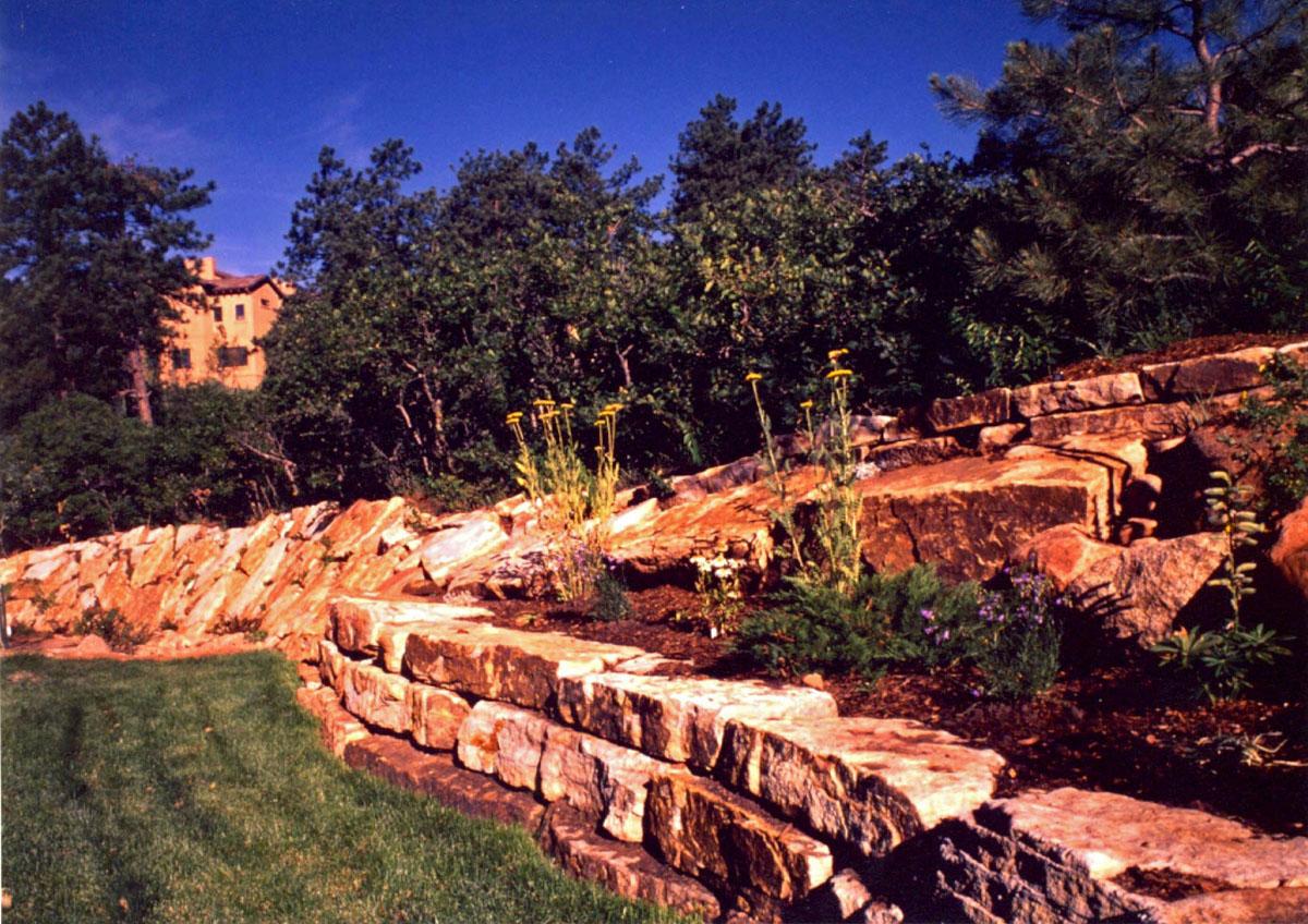 Hand Stack Retaining Walls Colorado Quarry Denver