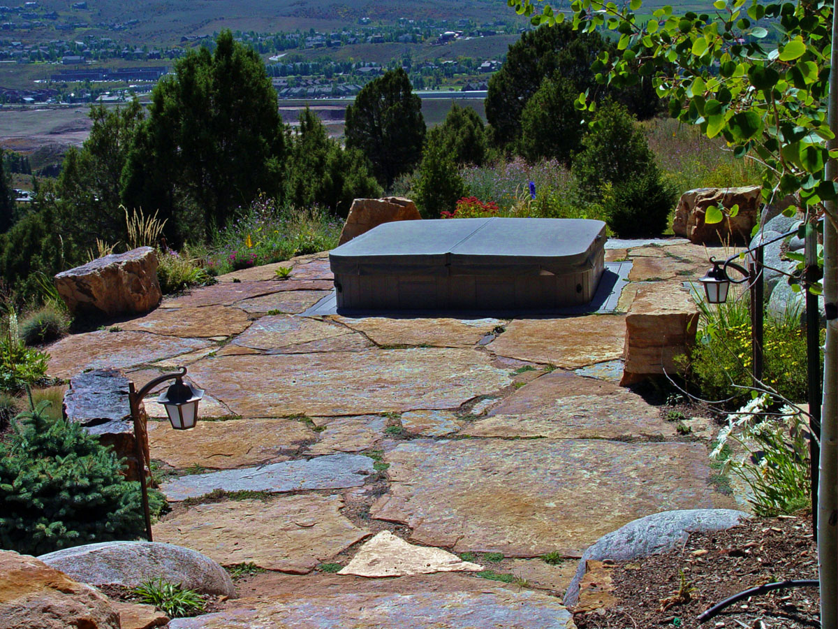Natural stone walkways stone patios colorado denver Natural stone walkways