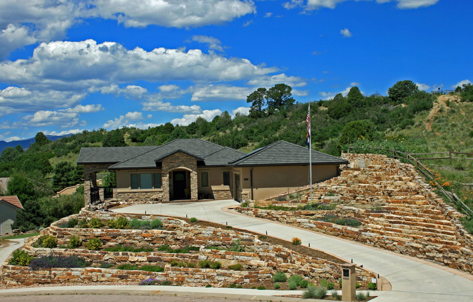 Machine Installed Retaining Walls Colorado Quarry Denver